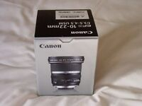 Canon EF S 10-22mm f3.5-4.5 lens brand new and boxed.