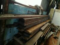 Wooden timbers roof timbers