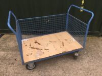 Large Heavy duty trolley with sides
