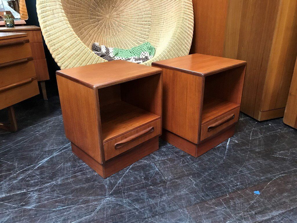 Pair of Fresco Bedside Cabinets by G Plan. Retro Vintage Mid Century