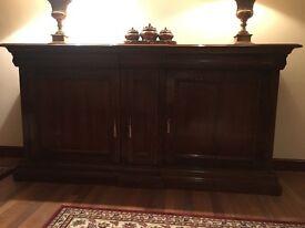 Large Dark Wood Side Cabinet