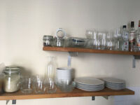 Glassware set (cups, mugs, wine glasses, cocktail glasses, mason jars)