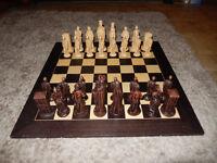 "Large Deluxe Boxed Chess Set + Board King Arthur & Camelot 55cm Studio Anne Carlton 5.5"" KING £345"