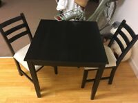 Ikea table with 2 chairs £20