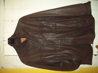 TIMBERLAND BROWN MAN'S LEATHER JACKET 'M'