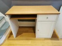 Desk with pullout, drawer and storage