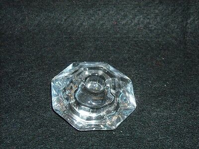 """Taper Candle Holder, Clear Reversible, Holds 1/2"""" or  7/8"""" s"""