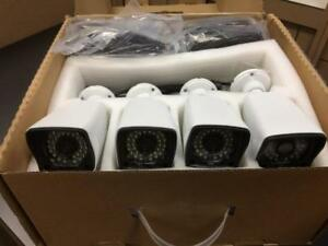 CCTV 4 CH DIY with 4 IP cameras, Cables and Recorder/ 16CH NVR  and NVR38