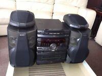 sony mini hifi with 4 speakers