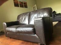 Leather 2 man sofa