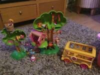 Lala loopsy tree house and school bus