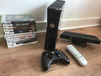 Xbox 360 Slim 250 GB plus Kinect and Games