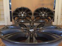 Genuine BMW MV2 MSport Staggered Alloy Wheels in stunning anthracite