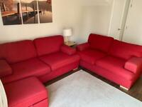 DFS Couch + sofa bed + ottoman