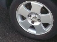 set of alloy wheels off ford fiesta 1.25 mk 5 01 model £80