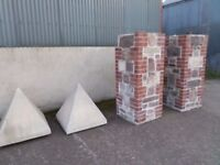 stone and brick pillers