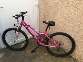 "Pink Girls Apollo Recall Bike - 24"" wheels"