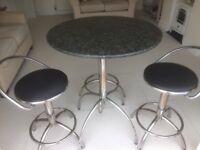 Granite Table & Three Stools