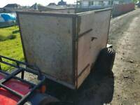 Quad atv livestock trailer