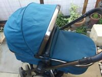 Mothercare Orb Pram and Pushchair - teal