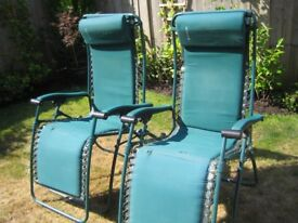 Two genuine Lafuma reclining chairs