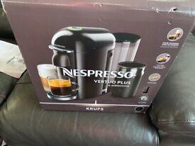 Nespresso Essenza Mini Coffee Machine Ruby Red Finish By