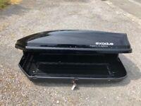 The Exodus 470L Black Roof Box