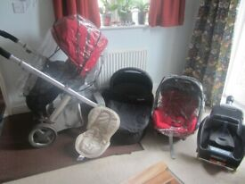 Oyster Bundle: Push Chair, Carry-Cot, Maxi-Cosi Car Seat with Isofix