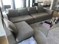 Lovely large corner sofa and swivel chairs (collection only from Chelsea)