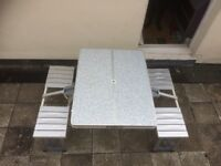 Foldaway camping table - great space saver. Camping, beach, festival