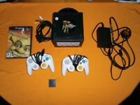 FOR SALE Nintendo gamecube with all leads memory card 2 pads and 1 game