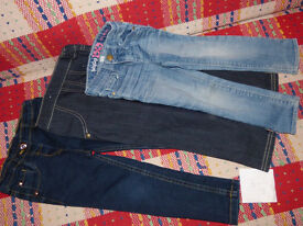 Bundle of 3 Jeans/ Trousers for Girl 3-4 years. Very good condition.