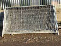 Heras style security fence panels