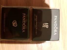 2 Pandora Petite Necklace charms