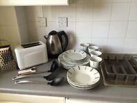 Toaster, Kettle and Kitchen utensils