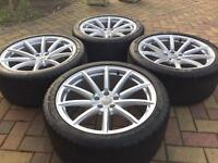 Genuine 19 Audi RS4 B8 S5 RS5 Alloy wheels & Dunlop SP Sport Maxx GT Tyres