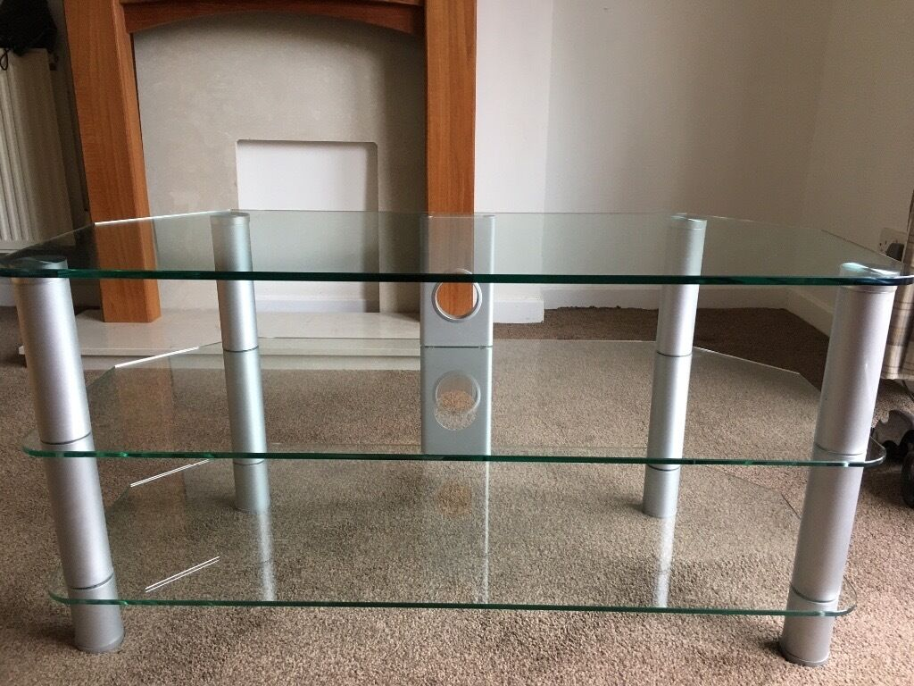 TV stand thick glass suitable for up to 60 inch TV's