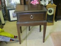 QUALITY 'STAG' BEDSIDE CABINET. STRONG & STURDY.IDEAL AS IS OR PAINTED.VIEWING/DELIVERY AVAILABLE