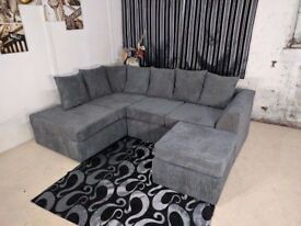 Brand New Dylan Jumbo cord Sofa set in Mink, Brown, Black, Grey And Beige -Same Day Fast Delivery-