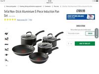 Brand new 5 piece Tefal saucepan set