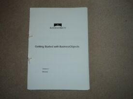 WINDOWS 'GETTING STARTED WITH BUSINESS OBJECTS' TUTORIAL MANUAL.