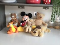 Job lot of soft toys including Disney