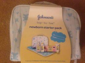 Brand New JOHNSONS TOP TO TOE NEWBORN STARTER PACK