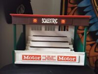 Scaelectric 1960s stadium stand and work shop stand