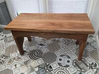 Handmade Stool/small coffee table in Elm