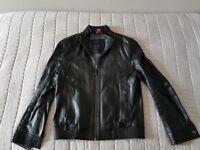 Tommy Hilfiger Black Fine Leather Jacket (New Never Worn)