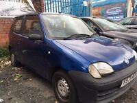 FIAT SEICENTO - 2001 - LONG MOT - PART EXCHANGE TO CLEAR