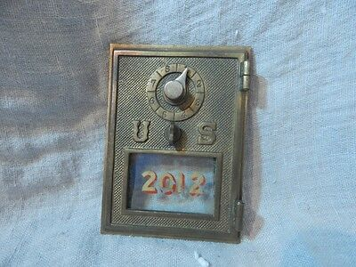 Vintage Cast Metal U S  Mail Mailbox Door  2012 5 1 4