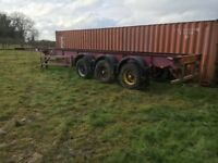 Skeletal Trailer Container Skelly Trailer
