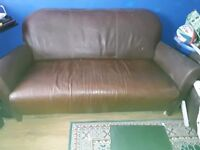 Small brown sofa 2/3 seater